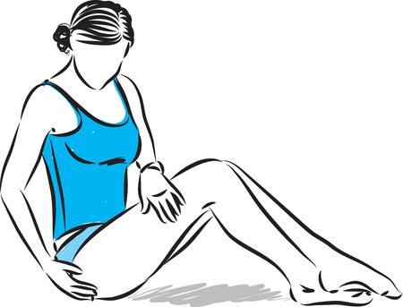 pretty woman skin care vector illustration