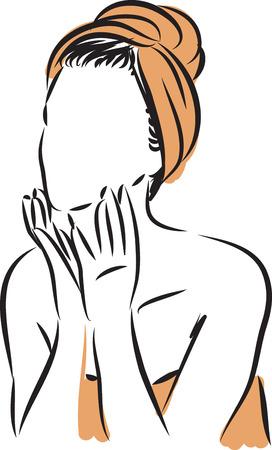 Woman skin care vector illustration
