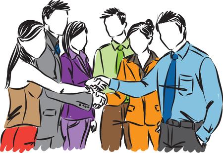 Teamwork business people