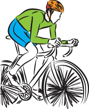bike rider vector illustration 矢量图像