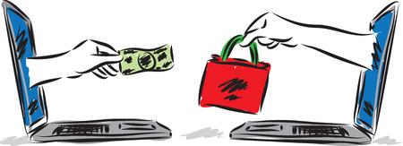 e-commerce concept vector illustration