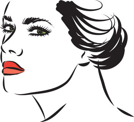 woman face vector illustration 向量圖像