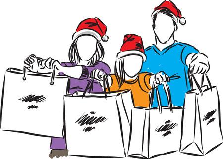 people giving presents vector illustration Illusztráció