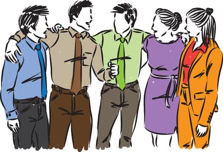 Business people together vector illustration.