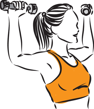 fitness woman at gym vector illustration