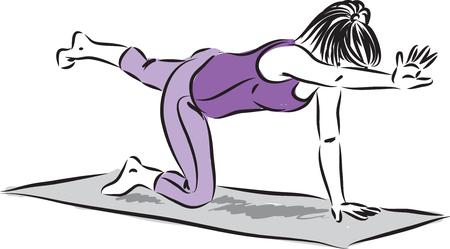 Fitness yoga woman vector illustration 向量圖像