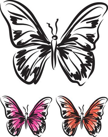 Butterfly tattoo vector illustration design.