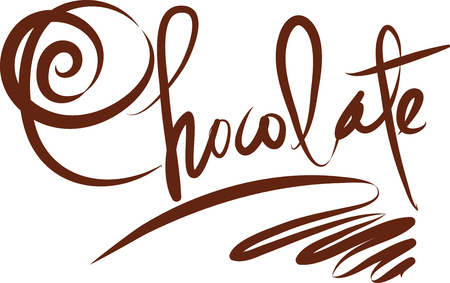 LETTERING CHOCOLATE vector illustration 일러스트