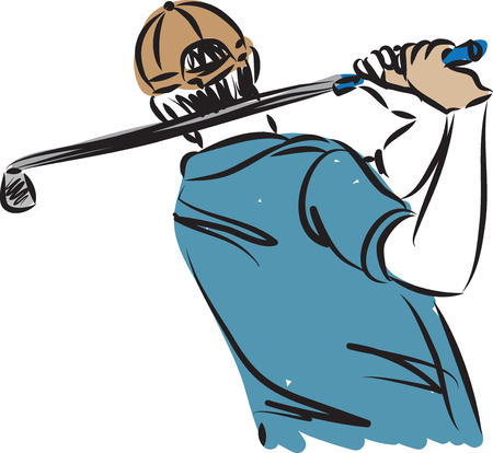 GOLF PLAYER VECTOR ILLUSTRATION Vettoriali