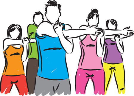 fitness people work out vector illustration 向量圖像