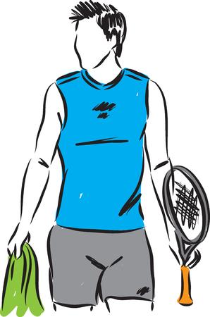 illustration tennis man player 向量圖像
