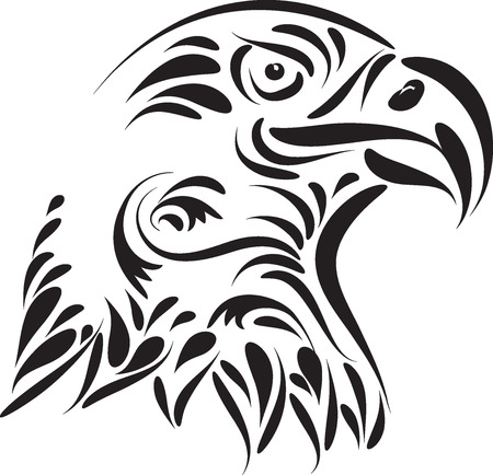 eagle head vector illustration