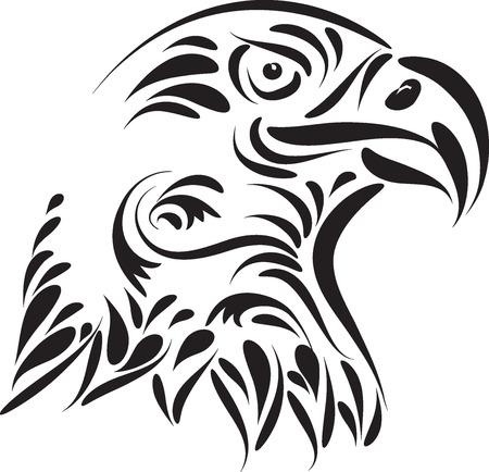 Ilustración de vector de cabeza de águila