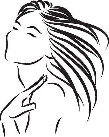beauty woman vector skin care vector illustration