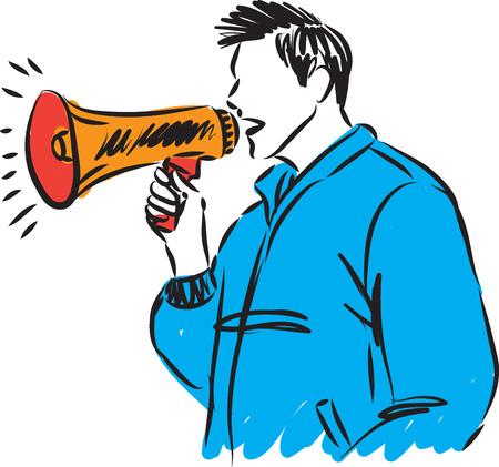 man with speaker vector illustration