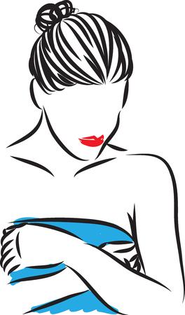 skin care woman pretty vector illustration