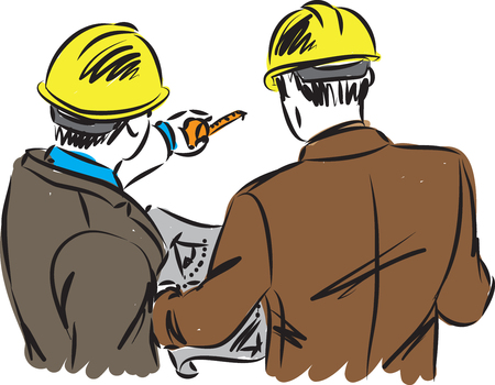 careers workers architects concept vector illustration