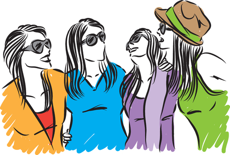 group of women friends having fun