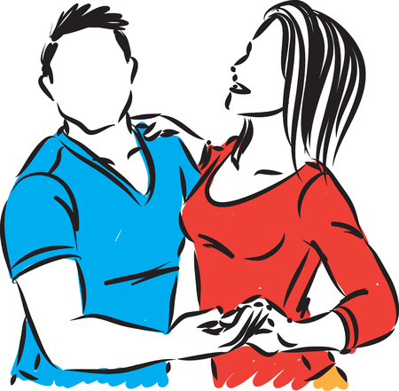 couple 1 dancers man and woman vector illustration