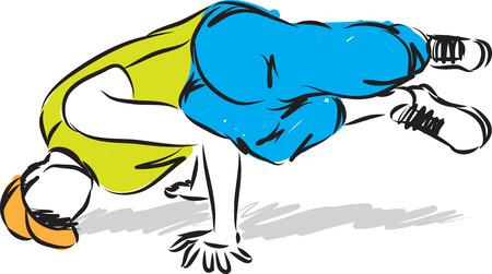 hip hop man dancer vector illustration