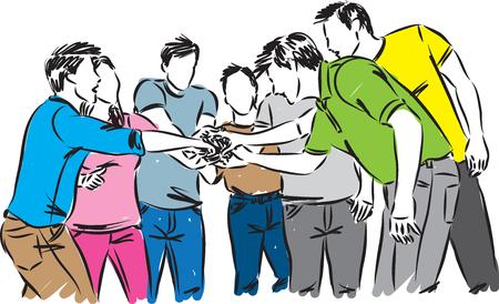 people team work concept vector illustration