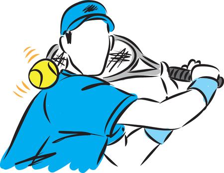 tennis player man vector illustration Illustration