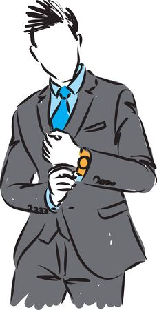 elegant man in suit vector illustration