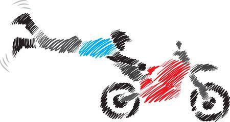 bike sport extreme vector illustration