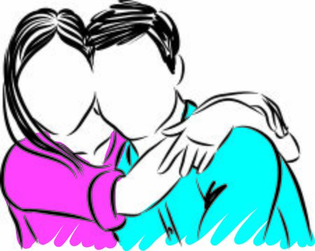 happy couple hugging vector illustration 向量圖像