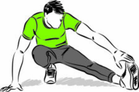 fitness man stretching2 vector illustration
