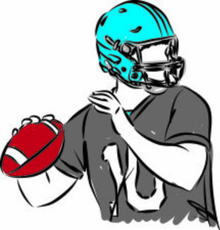 football player with ball vector illustration