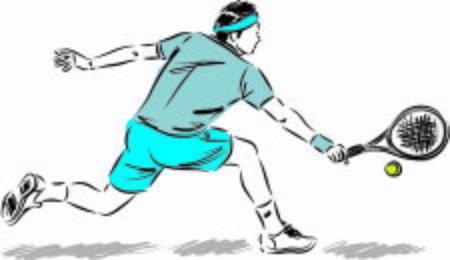 tennis player man vector illustration 向量圖像