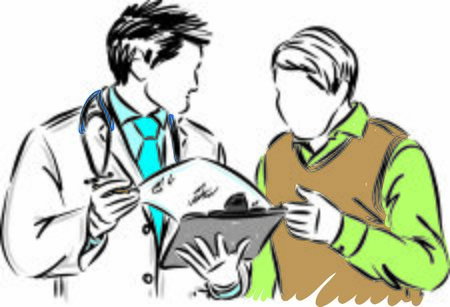 doctor with man patient vector illustration 向量圖像