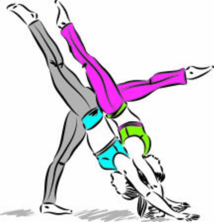 posture 1 yoga women vector illustration Illustration