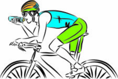 bicycle rider man vector illustration