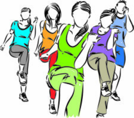 group of people fitness vector illustration