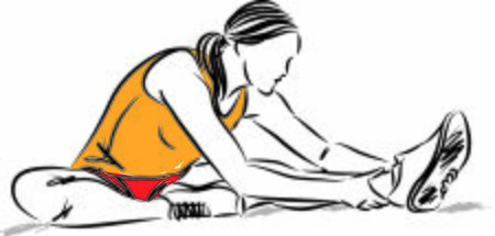 fitness young woman stretching vector illustration