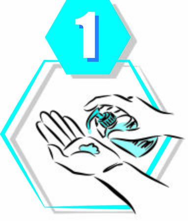 1 disinfecting hand prevention step by step vector illustration Иллюстрация