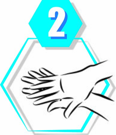 2 disinfecting hand prevention step by step vector illustration