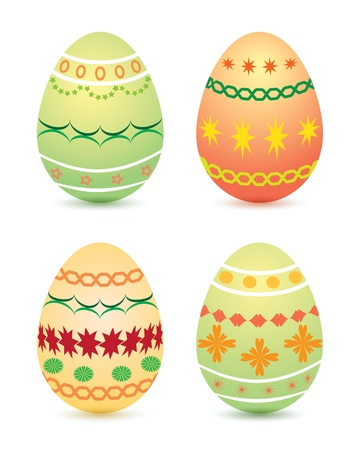 Illustration of Easter eggs ornaments Ilustrace