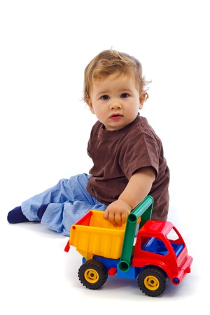 Little boy looking at camera - studio shot