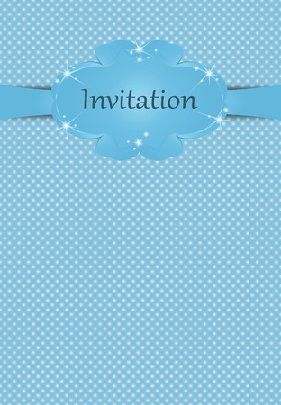 Illustration of invitationfor boys on blue background Vector