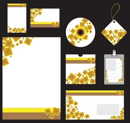 Illustration of retro stationery set for companies Illustration