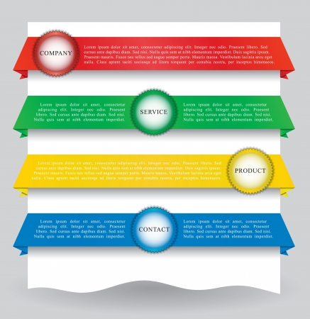 Illustration of different colored web banners for your website Illustration