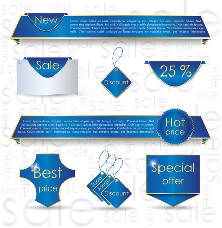 Illustration of design elements for promoting sale process Stock Vector - 13830823