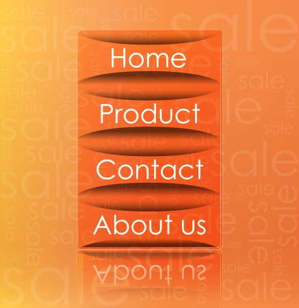 Illustration of transparent web element on sale background