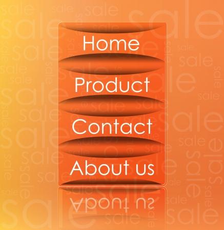 Illustration of transparent web element on sale background Stock Vector - 13830826