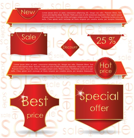 Illustration of design elements for promoting sale process Stock Vector - 13860357