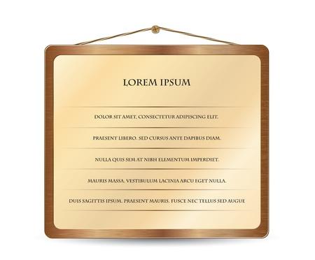 Illustration of wood design element for your website