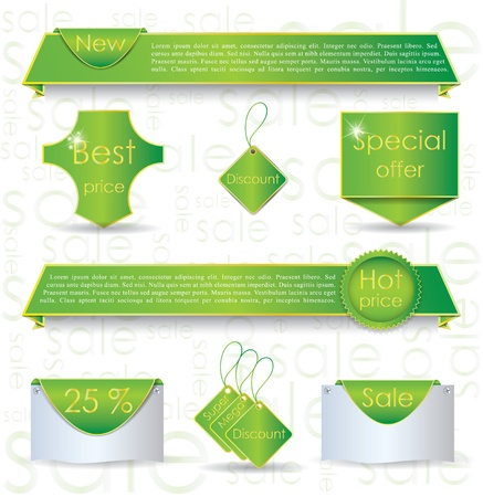 Illustration of design elements for promoting sale process Stock Vector - 14127542
